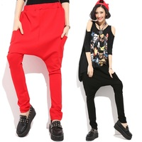 China Supplier Ladies Pantaloon Rayon Harem Trousers With Side Pocket