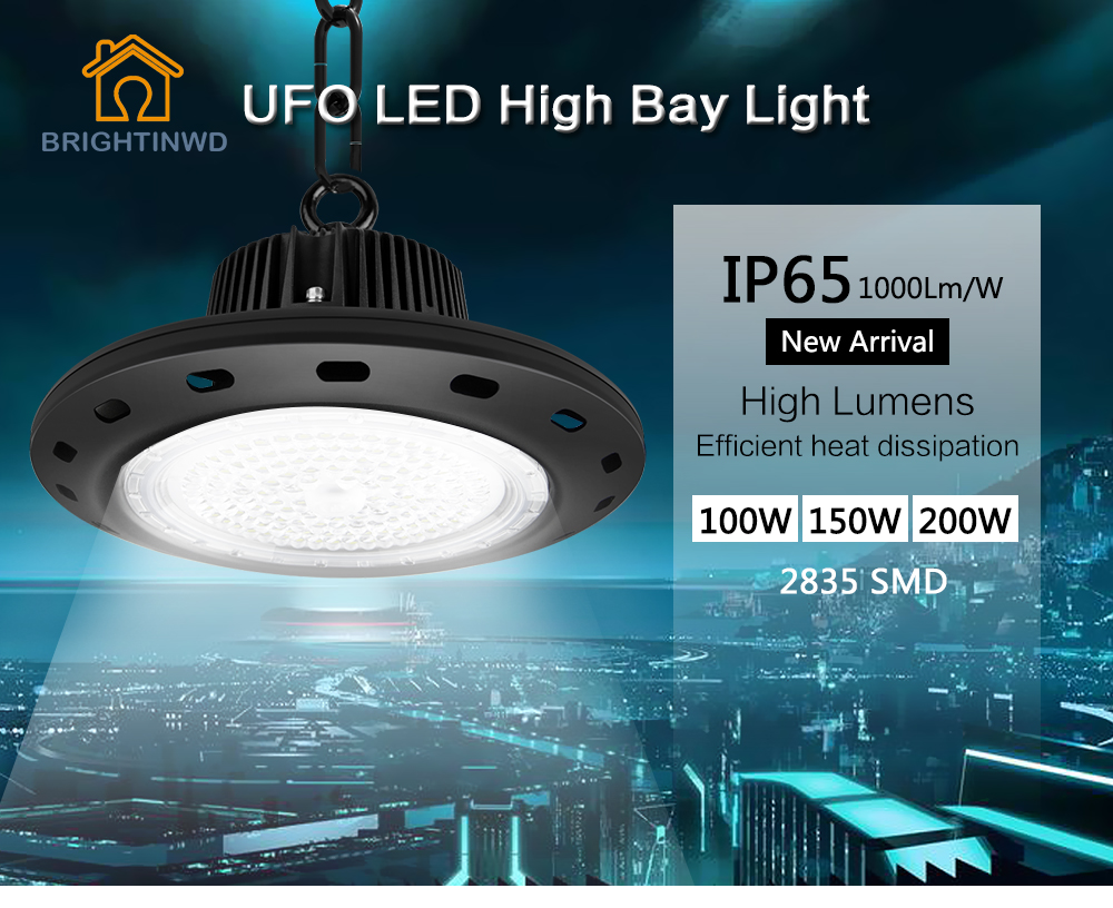 Factory Price Epistar Chip 100w 150w 200w Ip65 Rate Led High Bay Light Malaysia For Warehouse
