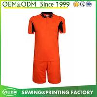 High quality soccer jersey accept custom own logo football shirt latest design soccer team blank jersey set