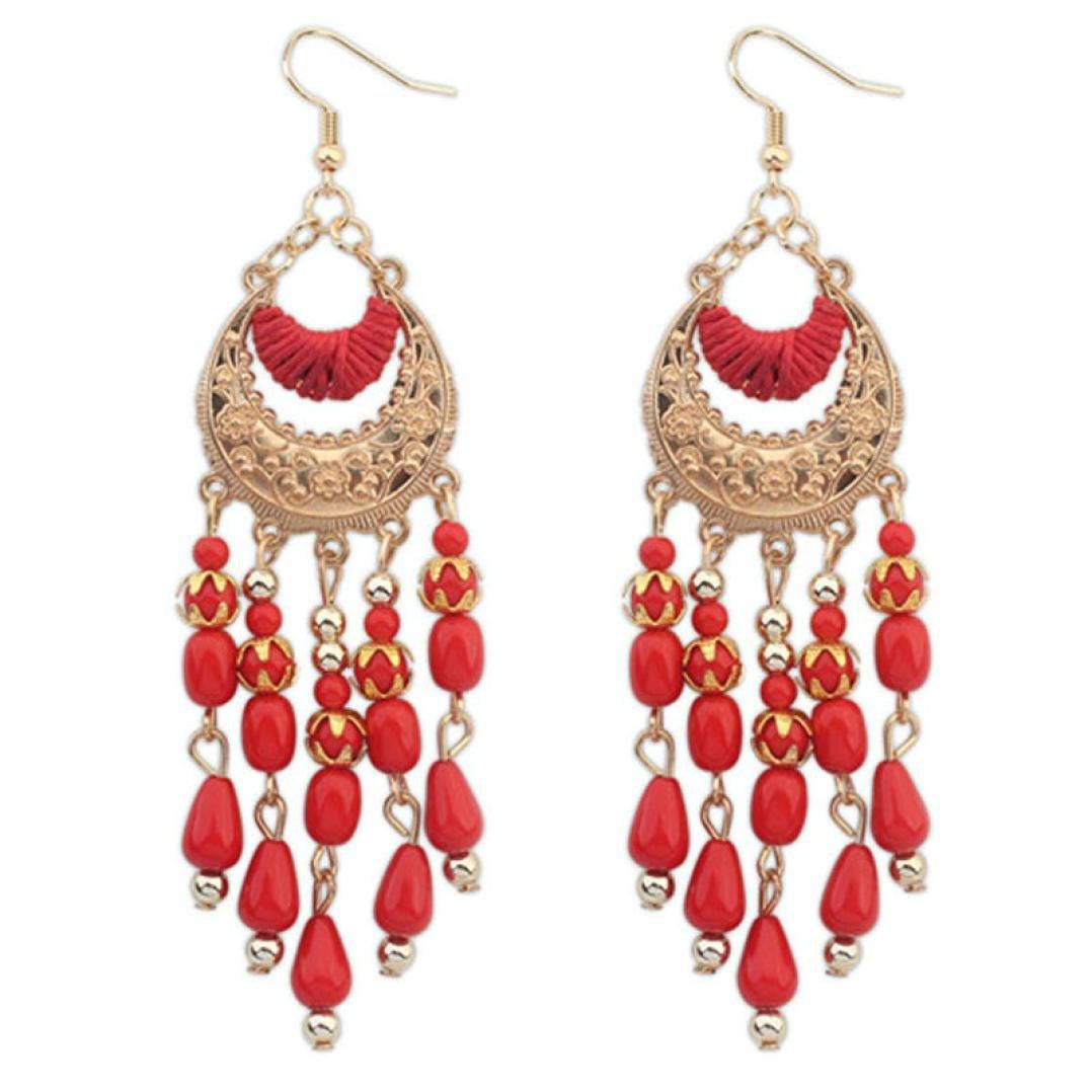 Tassel Earrings, Muranba Women Charm Bohemian Colorful Beads Ear Drops Dangle Tassels Earrings 1 Pair