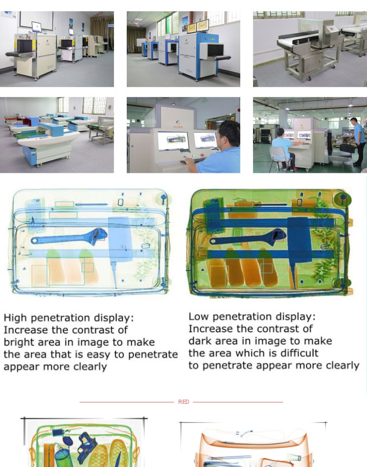 New Hot Selling High Quality Airport Security X Ray Hand Bag Scanners for Egypt Airport
