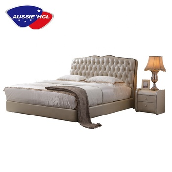 Luxury Bedroom Furniture Modern Latest Solid Wood Double Queen King Size Antique Hotel Soft Bed Frame Set Designs With A Box