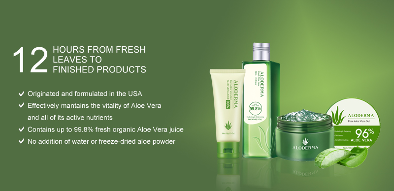 Aloderma, fresco di aloe vera gel biologico 100%, è l'aloe vera gel peeling gel a base d'acqua