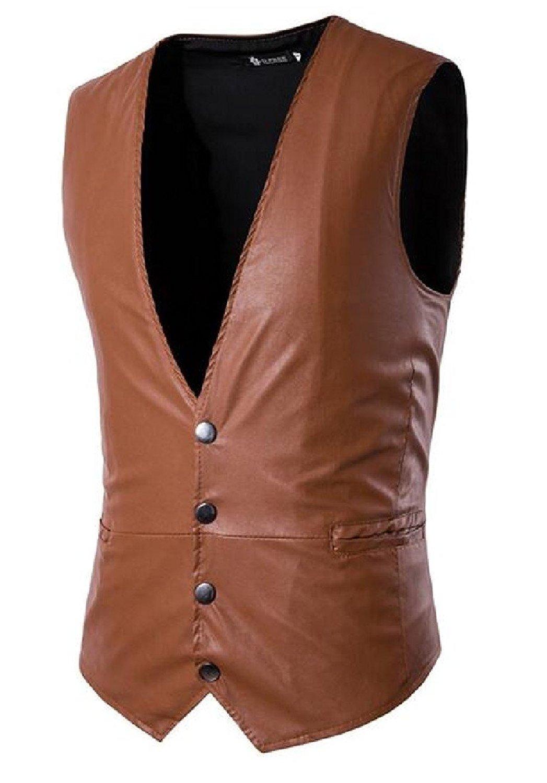 Zimaes-Men with Pocket Trim Solid Embroidered Formal 4 Button Suit Vests