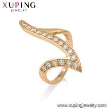 15530 xuping newest trending item most popular designer delicate 18k gold filled finger ring