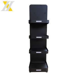 New Style Black Four Floor Liquor Water Bottle Display Stand For Supermarket Store