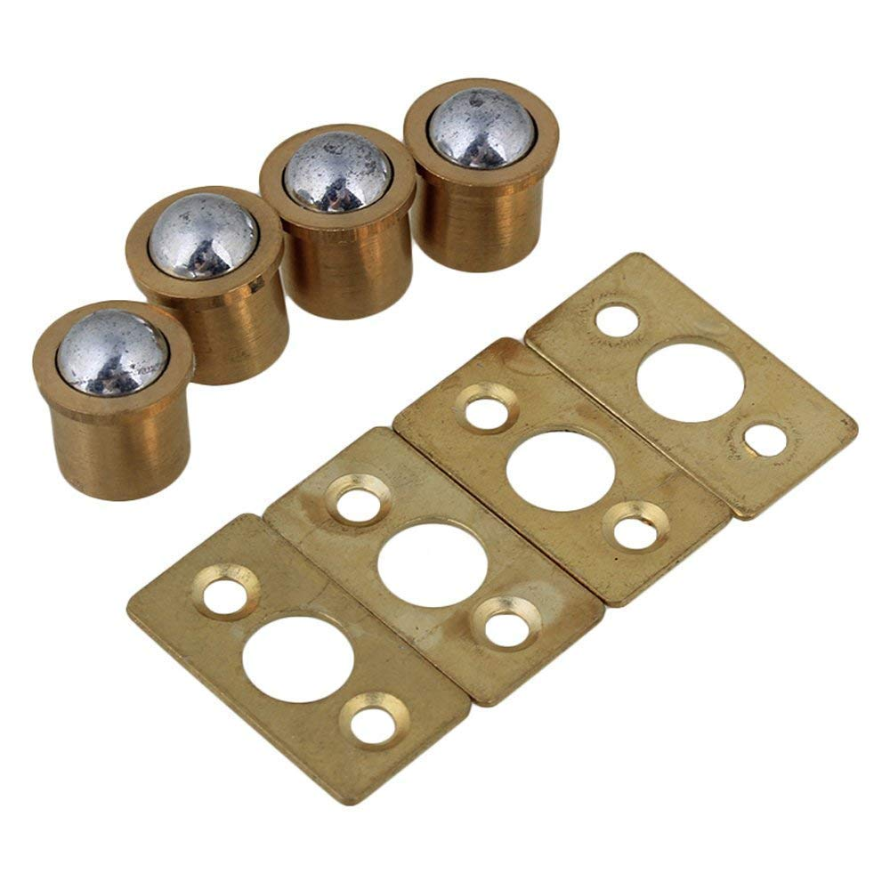 Get Quotations 9 5x10mm Cylindrical Gold Br Cabinet Closet Spring Door Ball Catch Strike Plate Furniture Hardware
