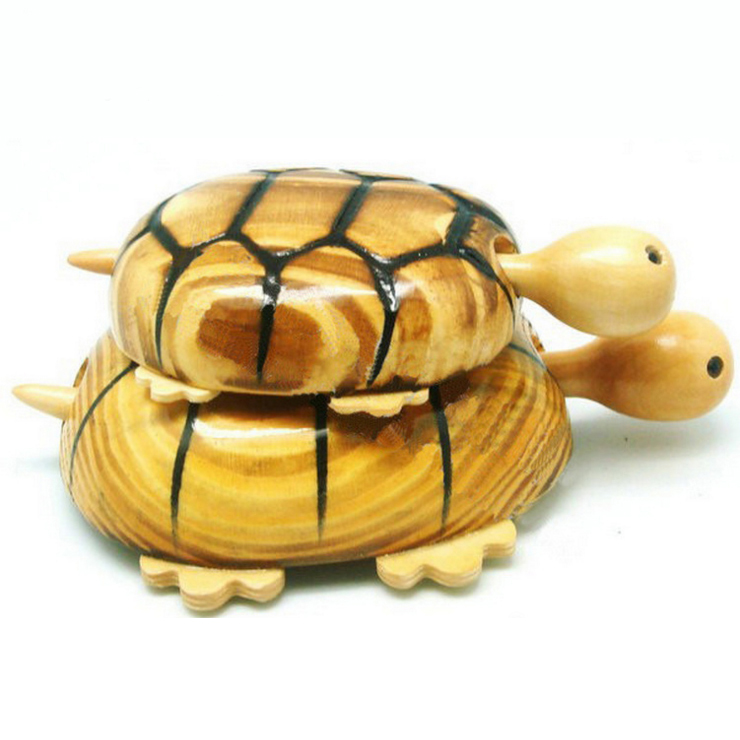 Wholesale wooden kid toy, wooden <strong>crafts</strong> and arts tortoise gift toy car with wheels