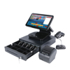 A Completely Set Of 15 Inch 2 POS Restaurant POS Software Windows POS Terminal With Accessories