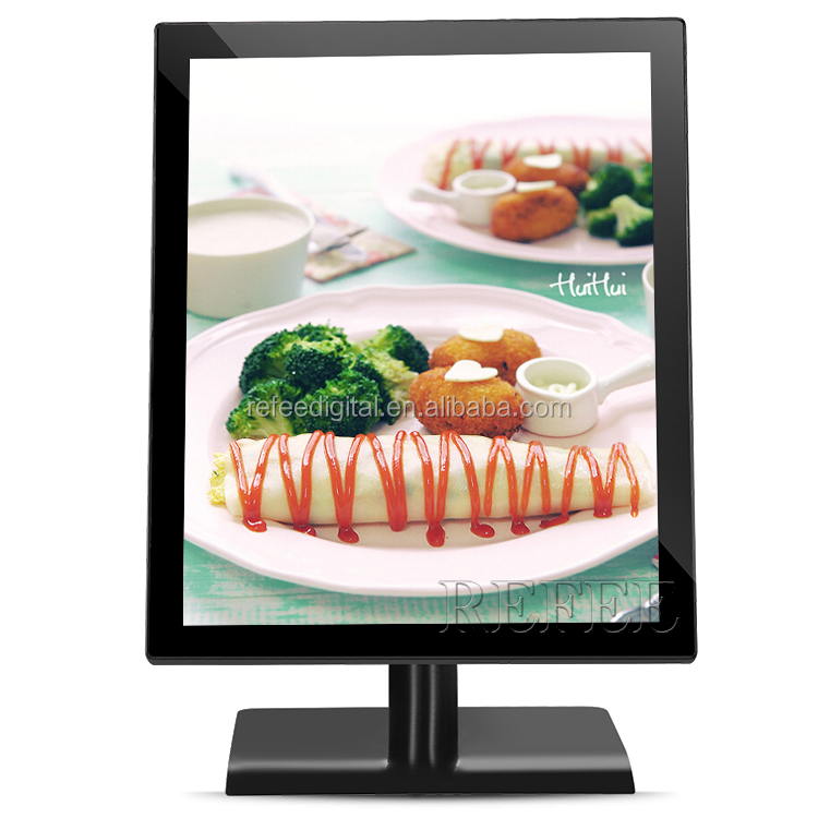 17inch tabletop media player digital signage pump petrol station lcd advertising displays