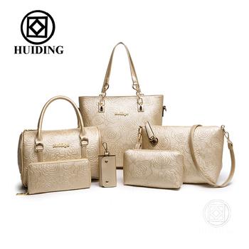 2016 flower six bags in one set designed bag fashion women bag factory  price ladies totes 321f1c96e32b3