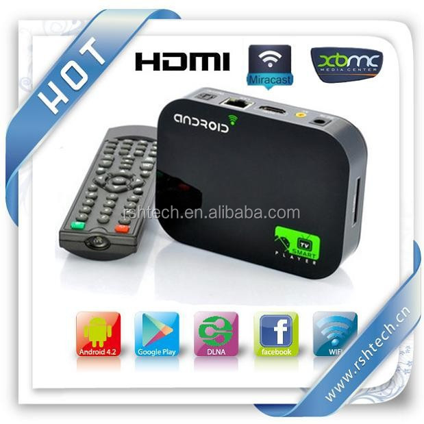 A20 intelligente media player preinstallato XBMC vidonm androide intelligente media player dts& 3d& iso bd Android 4.2 Ott tv box