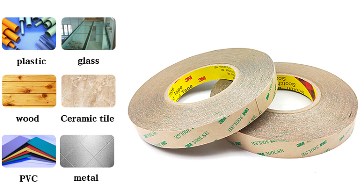 3M Brand 100% Original Pet Film Double Sided Adhesive Tape 300LSE 9495 Clear Hot Sale Wholesale Professinal Die Cutting