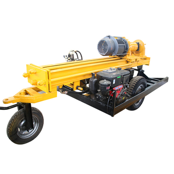 Dth Hard Rock Air Compressor Fy130 Hammer Mobile Water ...