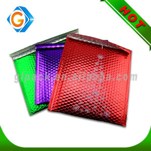 Custom standard size waterproof colored bubble envelope/waterproof poly padded envelope