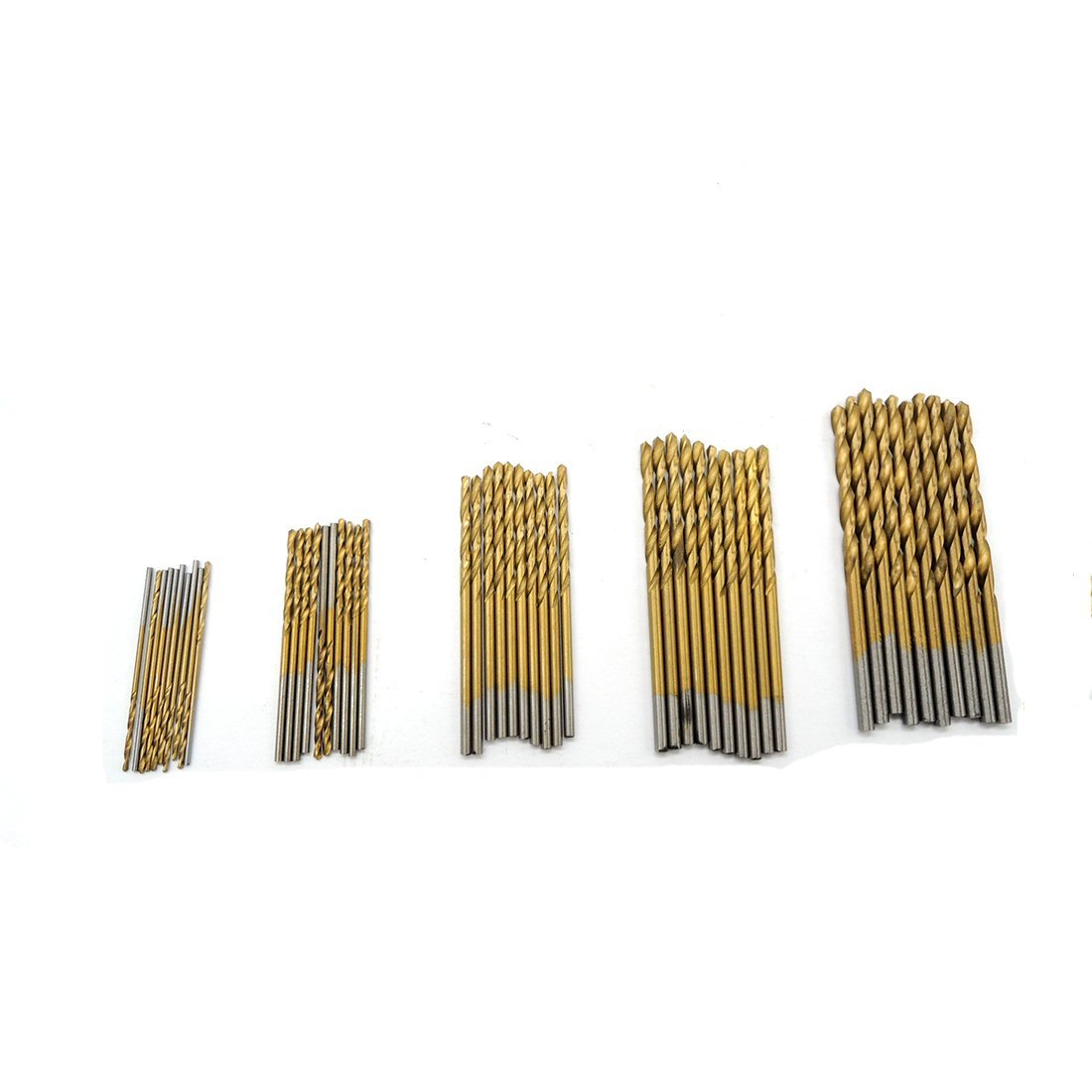 50Pcs HSS High Steel Titanium Coated Drill Wood Tool 1/1.5/2/2.5/3mm For Metal