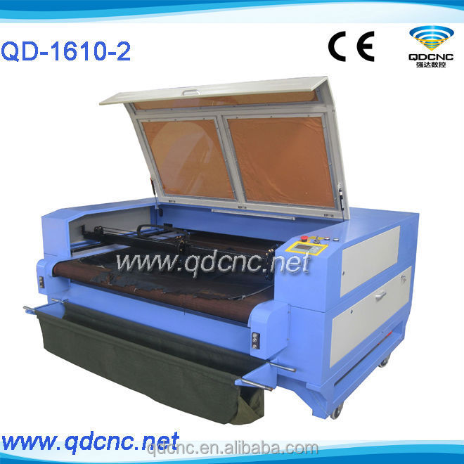 Factory supply cnc laser cutter for fabric /offer great after sale service QD-1610