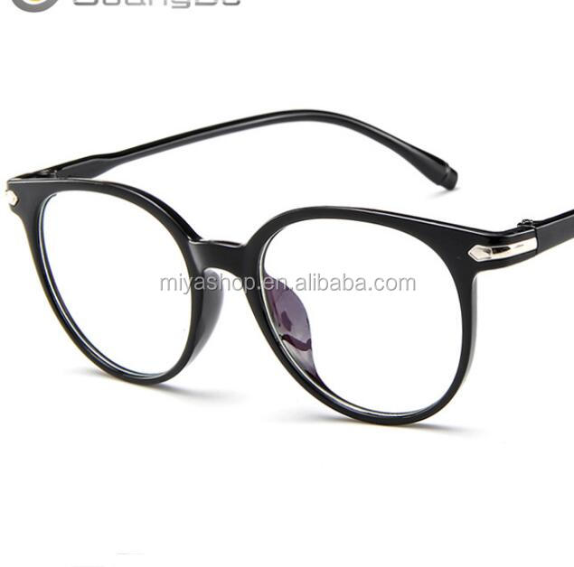 Fashion glasses frame / personality flat glasses without lenses / retro transparent jelly color glasses frame