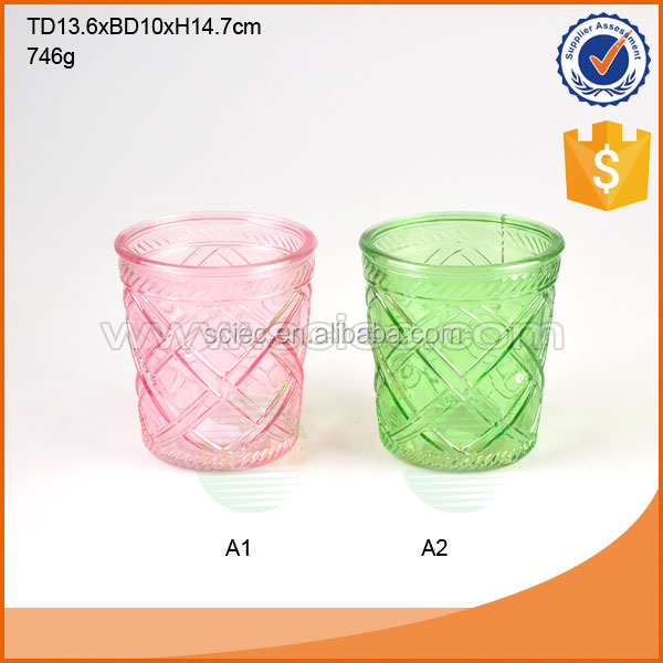 Color decoration glass flower tall vase wholesale