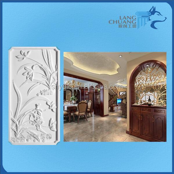 fashionable building and decoration material 3D colorful relife wall and ceiling
