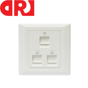 3 Port Cat6 Rj45 Networking Face Plate, RJ11 Telephone Wall Plate