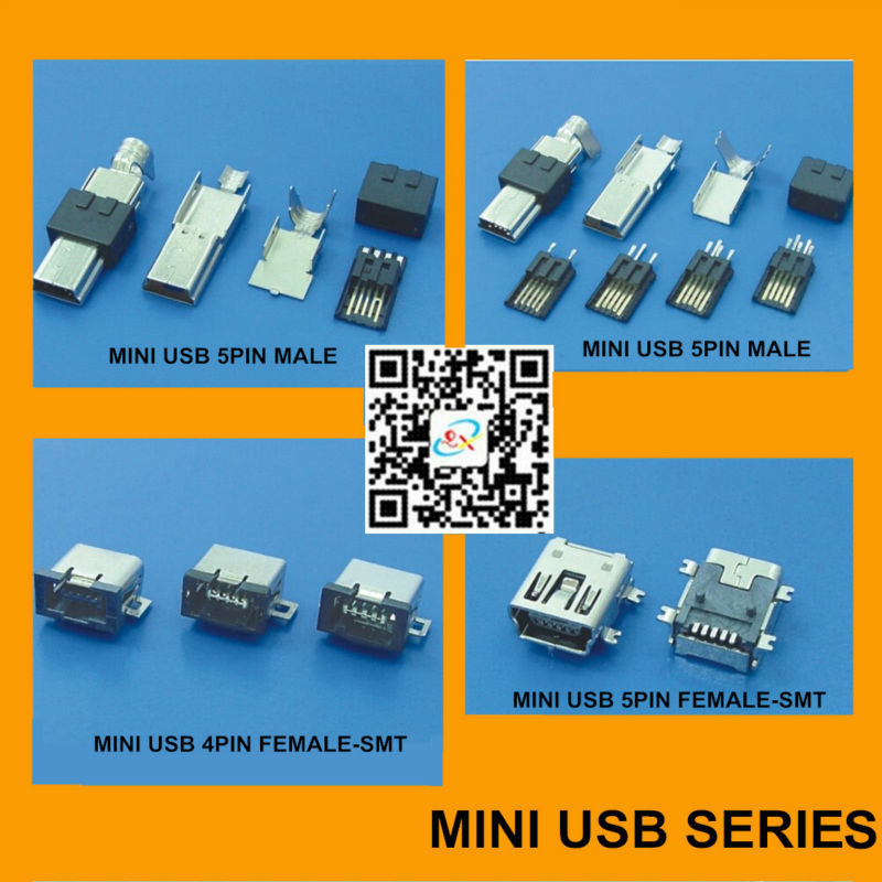 Micro USB b 5 Pin Connector