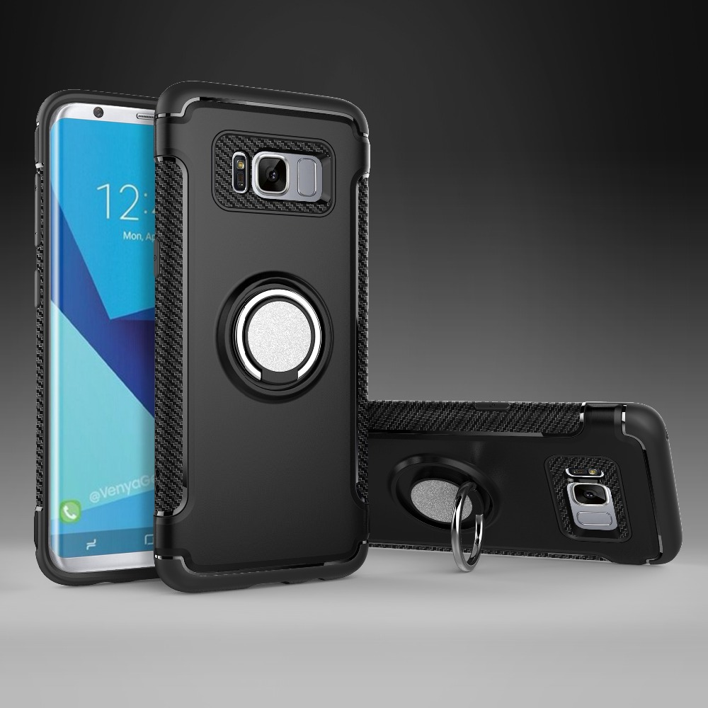 Anti shock tpu pc ring holder cell phone back cover <strong>case</strong> for samsung galaxy S9 S8 plus S7 edge note 8, note 8 shockproof <strong>case</strong>