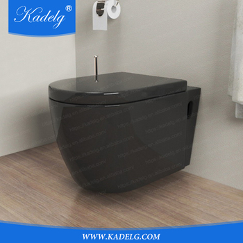 Bathroom Wall Toilet Black With Concealed Cistern Buy