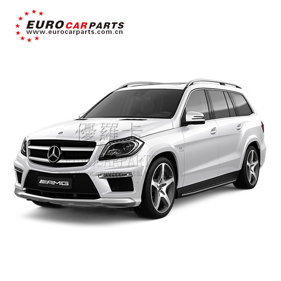 MB GL class x166 GL63 body kit for GL63 x166 with front bumper grille side skirts rear bumper led lights PP material 2013y~