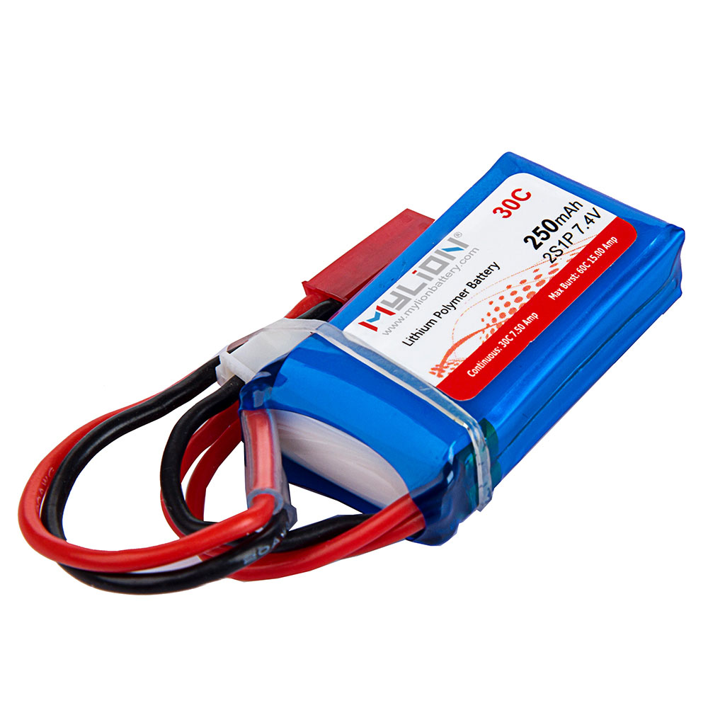Mylion high rate rehcargeable 2S 7.4v 250mah 30C small lipo battery