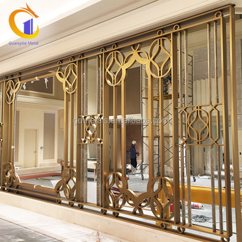 Hotel Malaysia Stainless Steel Metal Floor To Ceiling Screens Room Dividers Wall Partition Dividers