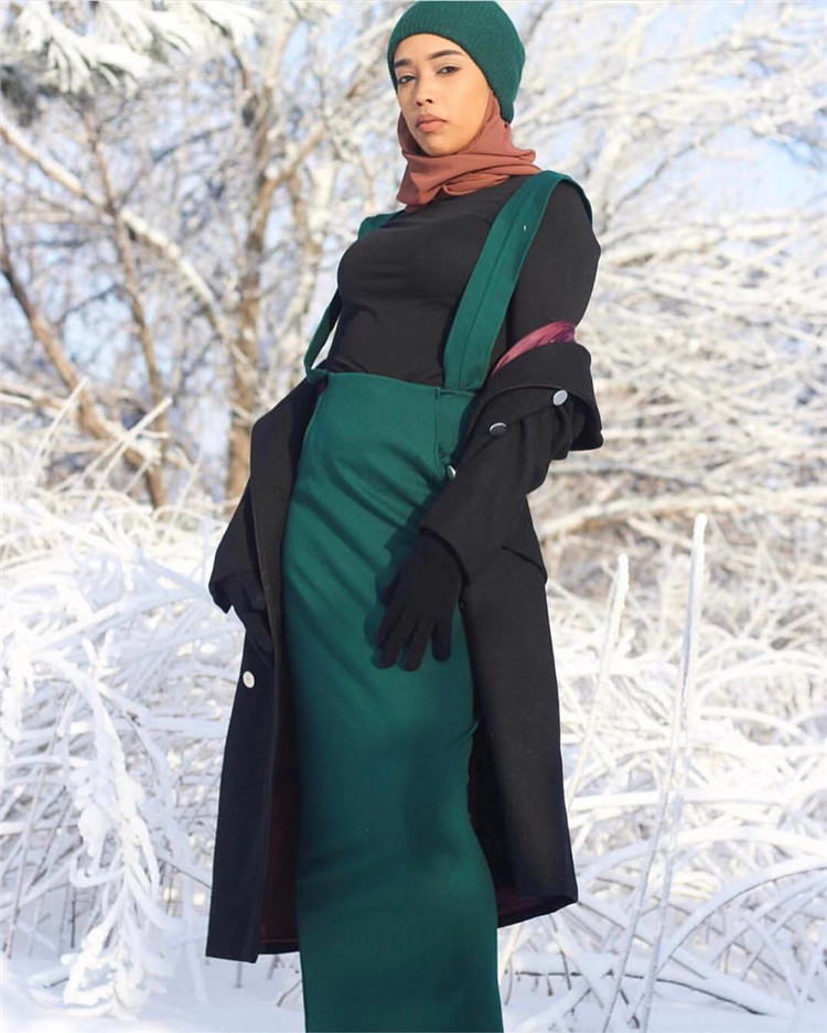 2019 Hot Sale Fashion Cotton and Spandex 5 Colors  Muslim Strap Skirt for Young Women