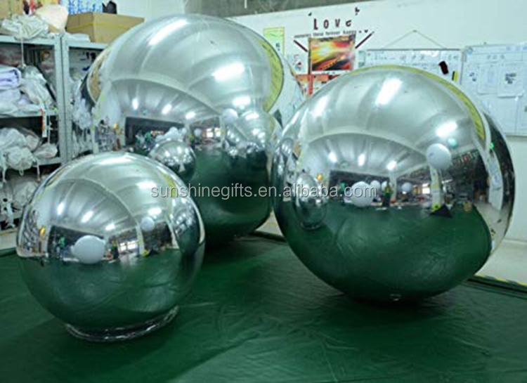 PVC Tarpaulin Inflatable Mirror Ball Spotlight for Party