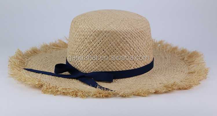 Ladies Fashion Summer Hat Frayed Custom Straw Hat - Buy Ladies Summer Straw  Hat,Fashion Frayed Custom Straw Hat,Ladies Fashion Summer Hat Frayed