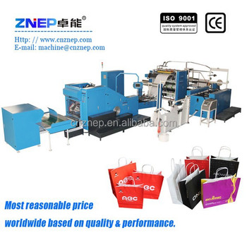 Automatic Paper Bag Making Machine With Handles Online ...