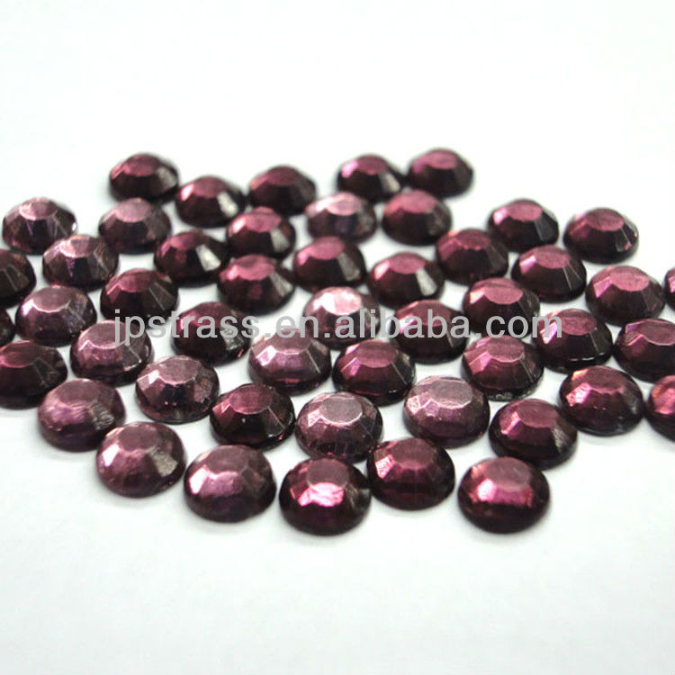 hot sale flatback lead free glass crystal for cloth transfer motif