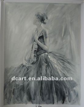 High Quality Black White Impressionist Painting Buy Famous Black