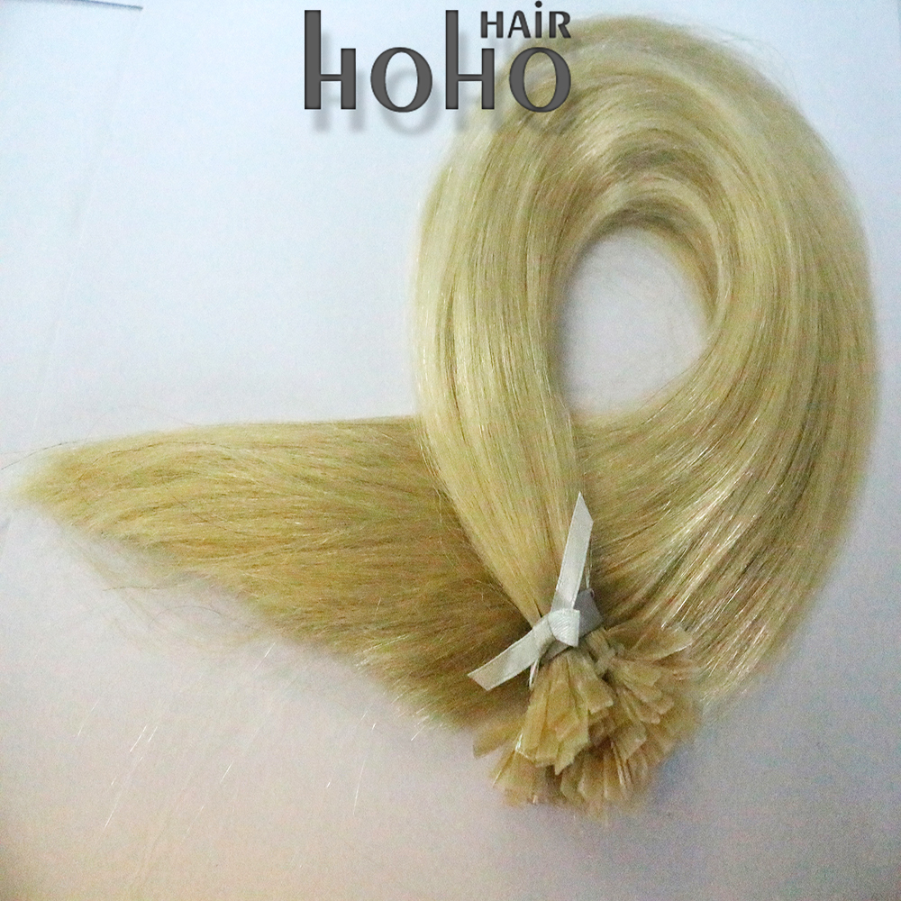 Ali express blonde straight wave 16 inch flat tip fusion hair extension