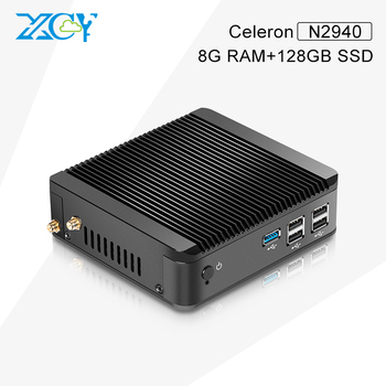 XCY Celeron Business PC X30 N2940 Fanless 5*USB High Performance School Using 8G Memory and 128G Hard disk Home theater pc