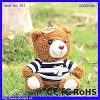 Online Shipping Manufacturer New Products 6000mAh Teddy Bear Power Bank