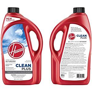 Hoover 2X CleanPlus Carpet Cleaner & Deodorizer 64 oz, AH30330NF, Cleans Carpets, Area Rugs, Upholstery and Car Interiors