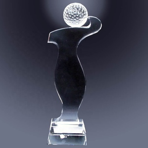 Hot sale factory made tennis ball crystal awards and trophy