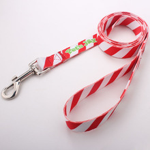 Wholesale Best Quality Custom Logo Print Polyester Peted Dog Training Leash With Sample Free