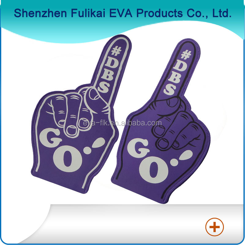 Customized Big Finger Cheering EVA Foam Hand