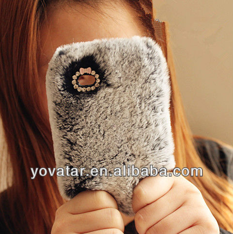 For Iphone5 Rabbit Fur Luxury Case Cover