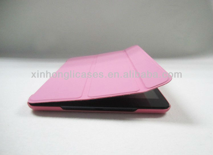 Three folding official smart cover with back cases for ipad mini