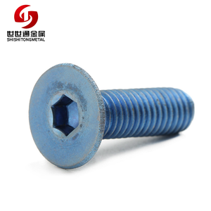 Din 7991 Countersunk Flat Head M3 M4 M5 M6 M8 Hex Socket Anodized Aluminum Screws With Trade Assurance