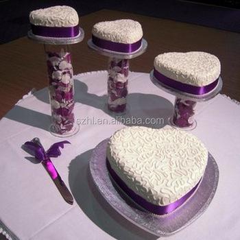 Luxueux Gâteau De Mariage En Acrylique Avec Forme De Coeur Buy Supports Acryliques De Gâteau De Mariagesupports Acryliques Luxueux De Gâteau De