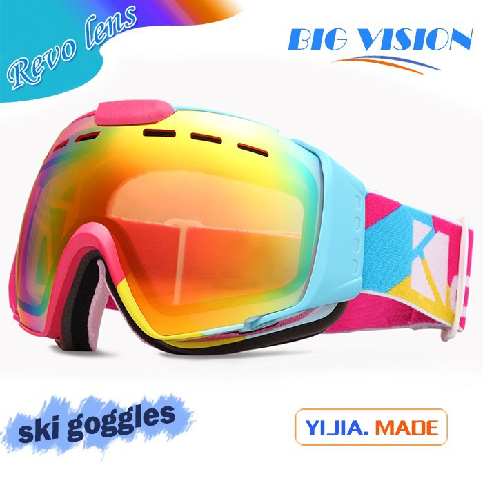 hot sale factory custom sphrical vented lens unisex racing snow goggle