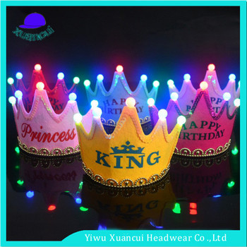 2017 Fashion New Design 18th Birthday Crown Beautiful Custom Made Hats Wholesale